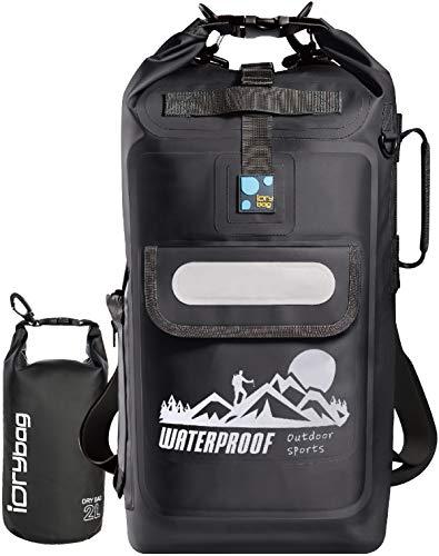 IDRYBAG Roll Top Dry Bag Backpack Waterproof Dry Bag Pack, Dry Backpack Waterproof Padded Straps 20L