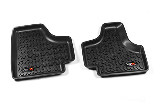 (Rugged Ridge All-Terrain 12950.20 Black Second Row Floor Liner For Select Jeep Liberty Models)