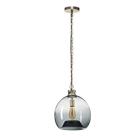 Amazon.com: Lámpara colgante de cristal simple E26, cadena ...