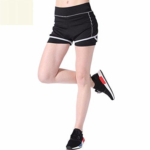 MOVING NOW Women Yoga Fitness Sports Training Shorts Female Stretch Running Short...