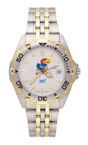 NCAA Kansas Jayhawks All Star Watch Stainless Steel Bracelet - UKS103 by LogoArt
