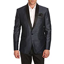Wintage Men's One Button Shawl Collar Party Black Blazer Coat- Three Colors,