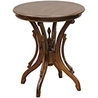 NES Furniture Nes Fine Handcrafted Furniture Solid Mahogany Wood Venice Wine Table - 28, Light Pecan