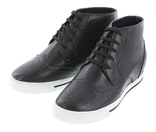 Calto Y36081-3 Inches Taller - Zapatillas Elevadoras Que AuHombrestan La Altura - Black Fashion Sneakers