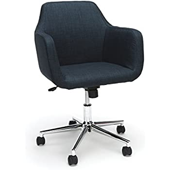 Essentials Upholstered Home Office Chair   Ergonomic Desk Chair With Arms  For Conference Room Or Office, Blue (ESS 2085 BLU)