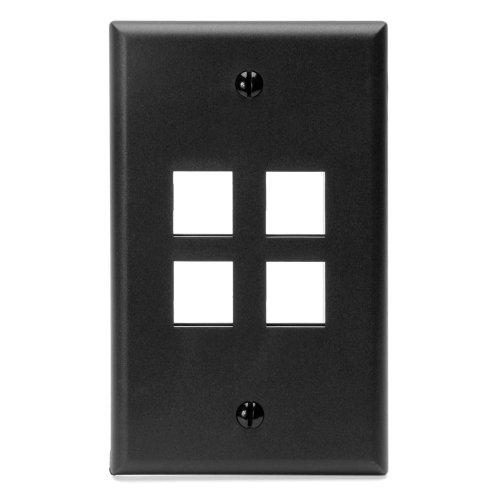 leviton-41080-4ep-quickport-wallplate-single-gang-4-port-black