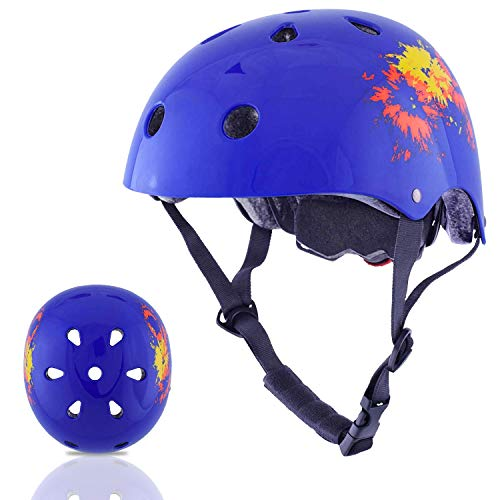 Exclusky Kids Helmets Adjustable CE CPSC Certified Sports Child Helmet for Bike Cycling/Scooter/BMX/Skating - Ages 5+ (Jewelry ()