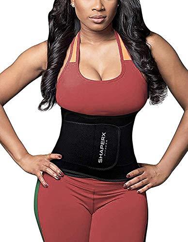 SHAPERX Women Waist Trimmer Belt – Waist Trainer Eraser Hot Sauna Sweat Belly Band Body Shaper Sports Girdles