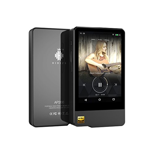 Wifi Bluetooth Mp3 - HIDIZS AP200 Hi-Res Certified WiFi Bluetooth MP3 Player High Resolution Digital Audio Player Portable Wireless Smart Touch Music Player for Android System (Black)