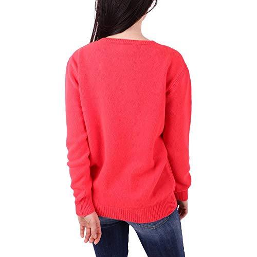 V0943 Maglia Lana Ferretti in 40 Vergine Alberta SIZE Cashmere e Bright red UnTZxpT04