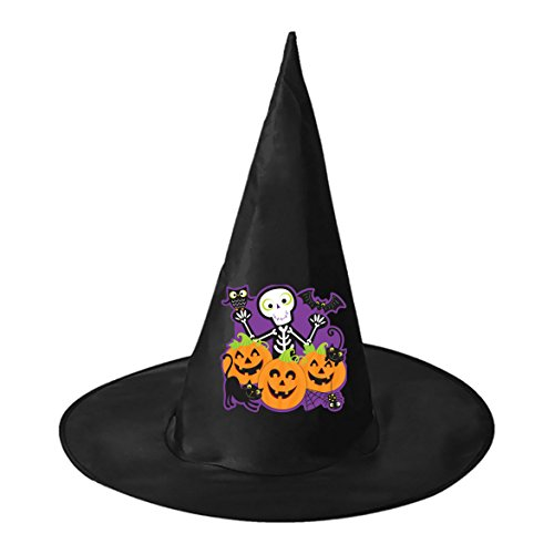 Inflatable Dinosaur Costume Video (Halloween hat Happy Halloween! Wizard hat Witch Hat Family Black Witch Costume Headwear for Halloween)