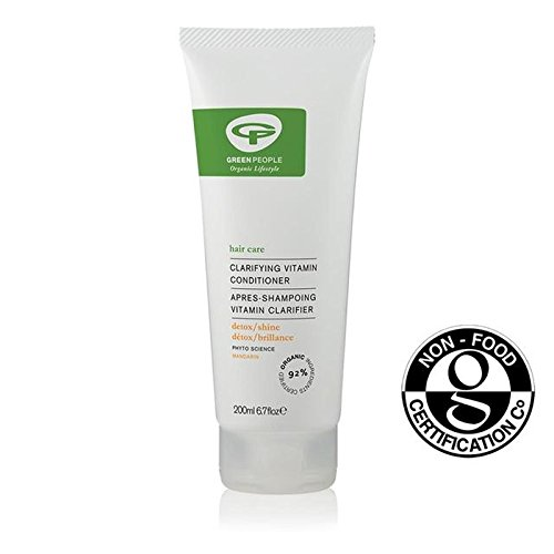 緑の人々の有機明確ビタミンコンディショナー200 x4 - Green People Organic Clarifying Vitamin Conditioner 200ml (Pack of 4) [並行輸入品] B071V7JQ94
