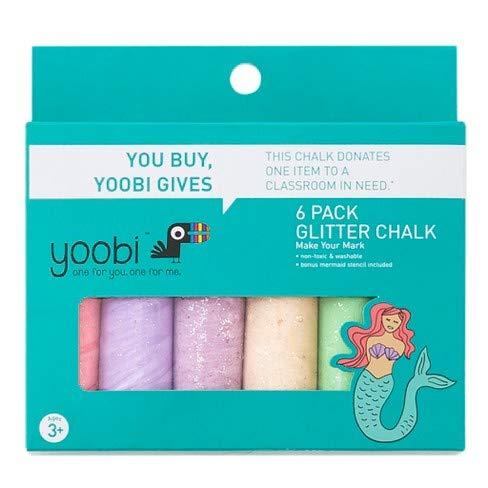 Yoobi Mermaid Glitter Chalk 6pk