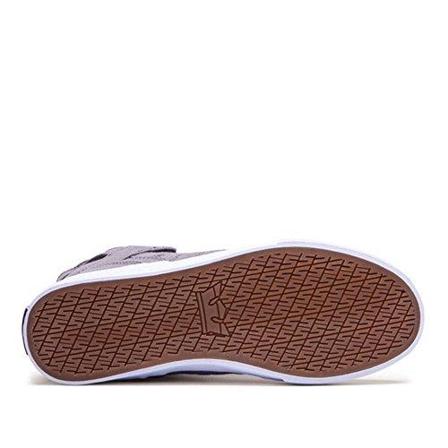 SupraSkytop Alta Uomo White Grey Sneaker ZqZxwX56
