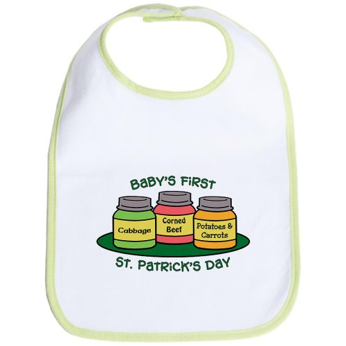 CafePress - First St. Patrick's Day - Cute Cloth Baby Bib, Toddler Bib