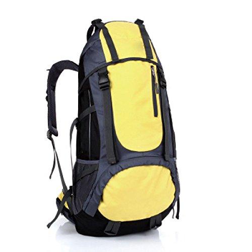 Alpinismo Al Aire Libre Mochila De Viaje 55L,Yellow Yellow
