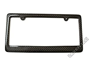 real 100 carbon fiber license plate frame tag cover ff