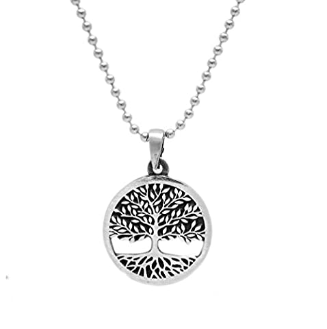 Tree of Life Celtic Pewter Pendant Religious Flow Creation + 24