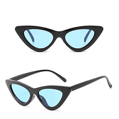 Homme Unisexe Dintang Bleu de chat Rétro Mode Triangle Lunettes Oeil Classique Lunettes Femme Noir de Soleil 5wIqAprw