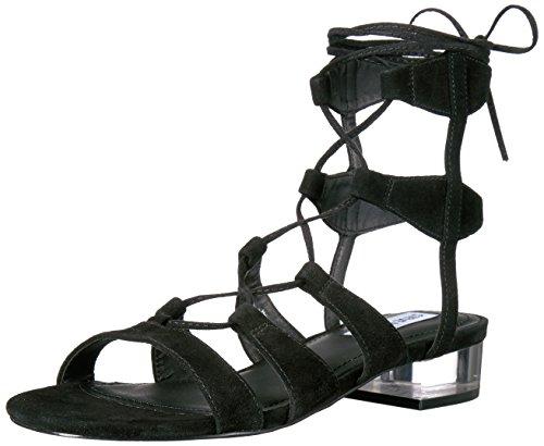 Steve Madden Women's Chely Gladiator Sandal, Black Suede,...