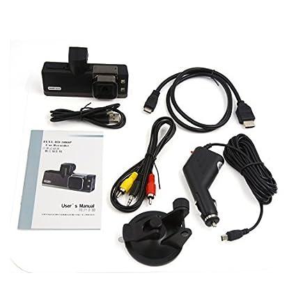 eDealMax Mini DV 2000 1080P Negro impermeable de Los deportes de alta definición LCD de la