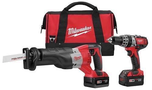 Milwaukee 2694-22 M18 18-Volt Lithium-Ion Cordless Hammer Drill/Sawzall Combo Kit (18v Cordless Sawzall Kit)
