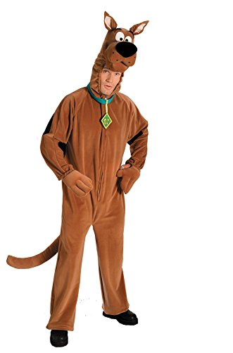 Unisex Plush Scooby Doo Funny Comical Theme Party Adult Halloween Costume, 1 Size (Up To 44)