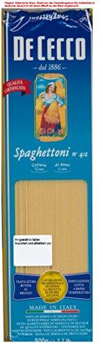 De Cecco Spaghettoni Nr 412 6 x 500g = 3000g