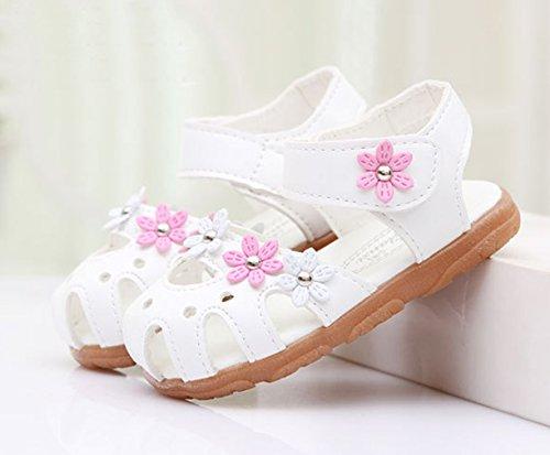 Eozy Kinderschuhe Baby Mädchen Sandalen Lauflernschuhe Weiß