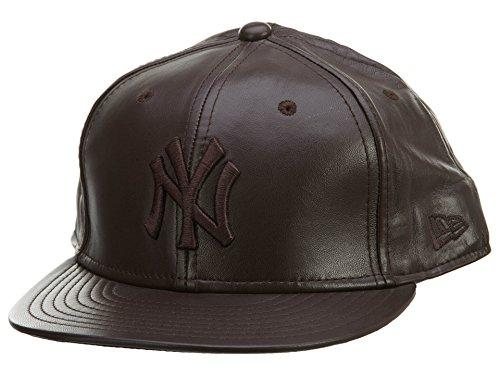 - New Era New York Yankee 2 Tone Leather Unisex Style: YANKEE30-Drk BRWN Size: 8 Dark Brown