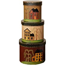 Your Heart's Delight Live, Laugh, Love Nesting Boxes, 7-1/2 by 6-Inch, Set of 3