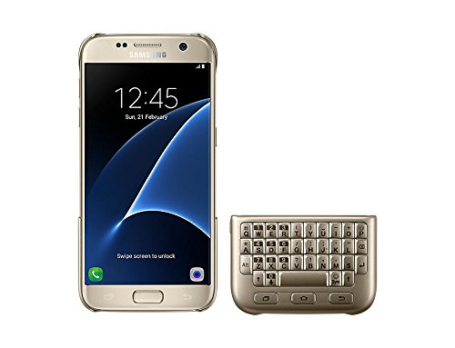 Samsung Galaxy S7 Keyboard Cover (QWERTY) - Gold