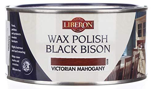 Liberon Black Bison Paste Wax Victorian Mahogany ()