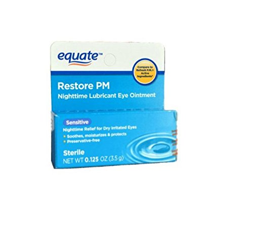 Equate Nighttime Lubricant Eye Ointment, Compare to Refresh Twin Pack (2 Pack)