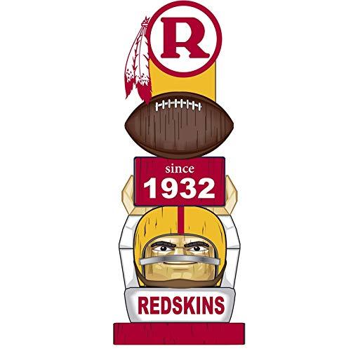 (Team Sports America Washington Redskins Vintage NFL Tiki Totem Statue)