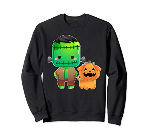 Frankenstein and Pumpkin Dog Halloween Gifts  Sweatshirt