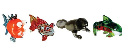 Looking Glass Miniature Collectible - Piranha / Gold Fish / Manatee / Trout ()