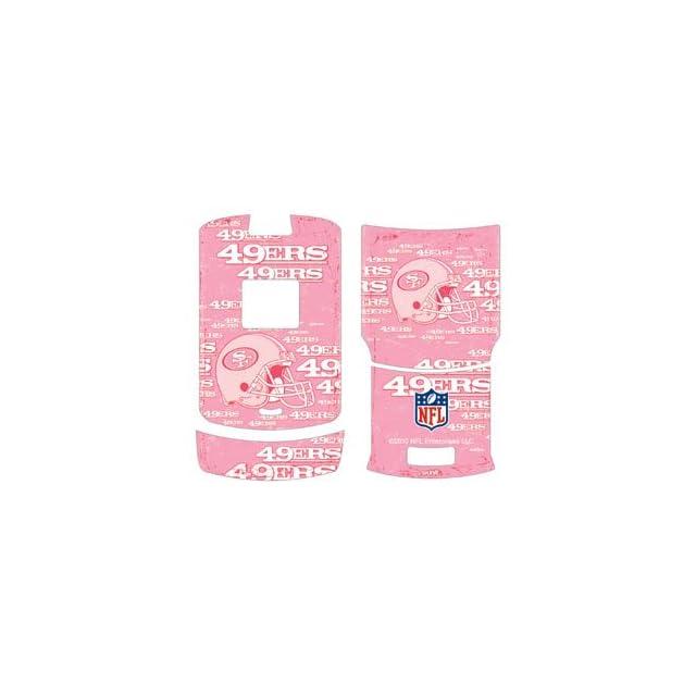NFL   San Francisco 49ers   San Francisco 49ers   Blast Pink   Motorola RAZR V3   Skinit Skin Cell Phones & Accessories