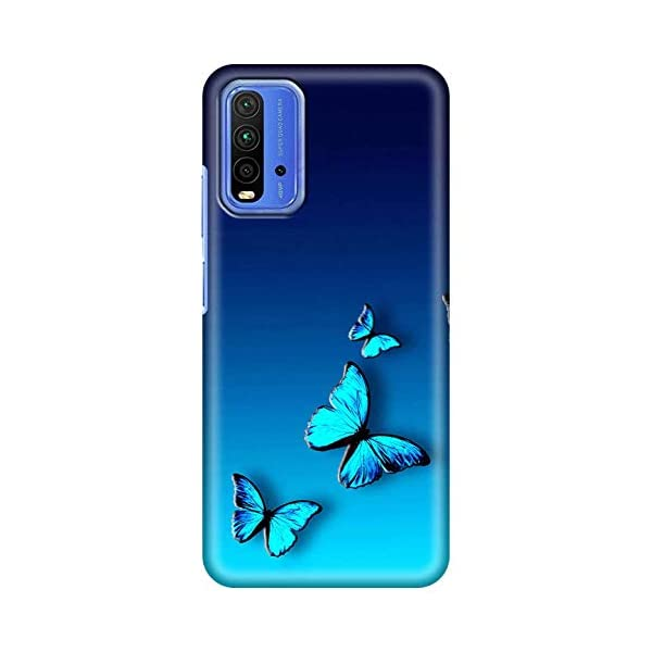 Amazon Brand - Solimo Designer Butterfly Blue Design 3D Printed Hard Back Case Mobile Cover for Xiaomi Redmi 9 Power 2021 August Snug fit for Mobile, with perfect cut-outs for volume buttons, audio and charging ports Compatible with Xiaomi Redmi 9 Power Easy to put & take off with perfect cutouts for volume buttons, audio & charging ports