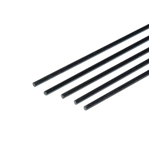 Carbon Fiber Rods 1.3mm x 1000mm for Kites, RC Airplanes, and More! Includes 5 Rods. Pultruded Carbon