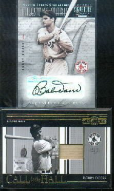 (2001 Donruss Signature Milestone Marks Masters Series #11 Bobby Doerr Autograph Card)