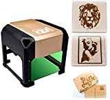 Laser Engraving Machine Laser Engraver Printer 3000mW Mini Desktop Laser Engraver Machine DIY Logo Laser Engraver 7.5X7.5CM (1000/3000mW)