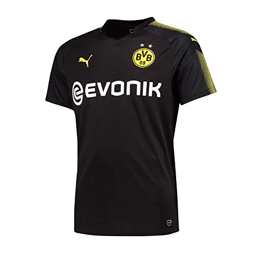 Puma Borussia Dortmund FC 2017/18 Short Sleeve Away Jersey - Adult - Black/Yellow -