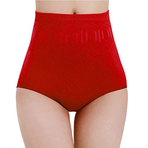 Flare Panties - YOcheerful Womens Boxer Brief Panties High Waist Briefs Pants Comfy Shorts Trunks (Red,Free Size)