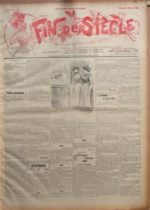 FIN DE SIECLE N? 1781 du 12-04-1908 MAX VITERBO - THEATRE - DR SAULME - BRINGER ET VALBERT - LA PROVINCE S'AMUSE - FEUILLETON - CHRONIQUE DE IRENE MAUGET - G. DERYS - FRANC-PARLER - DE SAINT-SIMON - LA SEMAINE DE FIN DE SIECLE - G. D'ALBANE - ADULTERE PAR BONTE D'AME - GALIPAUX - LE CITADIN ET LES CHEMINS DE FER - J. LECOCQ - AGNES MARIEE - G. MICHEL - AU THEATRE CLUN