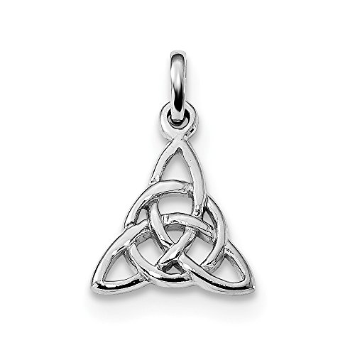 925 Sterling Silver Trinity Knot Pendant Charm Necklace Celtic Claddagh Cz Fine Jewelry Gifts For Women For Her ()