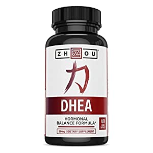 DHEA 50 mg Supplement – Hormonal Balance Formula For Women & Men – Healthy Aging Support – Non-GMO Vegetarian Formula – 60 Veggie Capsules