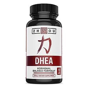 DHEA 50 mg Supplement - Hormonal Balance Formula For Women & Men - Healthy Aging Support - Non-GMO Vegetarian Formula - 60 Veggie Capsules