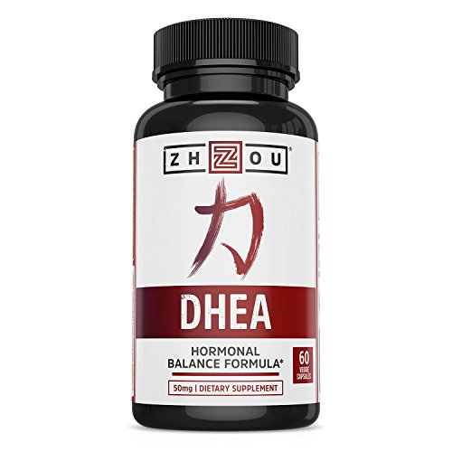 Naturally 60 Vegetable Capsules - DHEA 50 mg Supplement - Hormonal Balance Formula For Women & Men - Healthy Aging Support - Non-GMO Vegetarian Formula - 60 Veggie Capsules