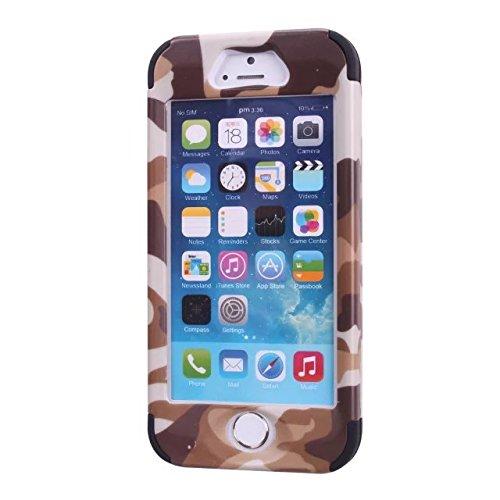 iPhone 5 Cas,iPhone 5S Cas,Lantier Slick [Angel Eyes Series] hybride Durable 3 en 1 PC + silicone souple Design Adhésif pour pare Slim Hard Cover affaire pour Apple iPhone 5 / 5S Soldat ArmyGreen Camo